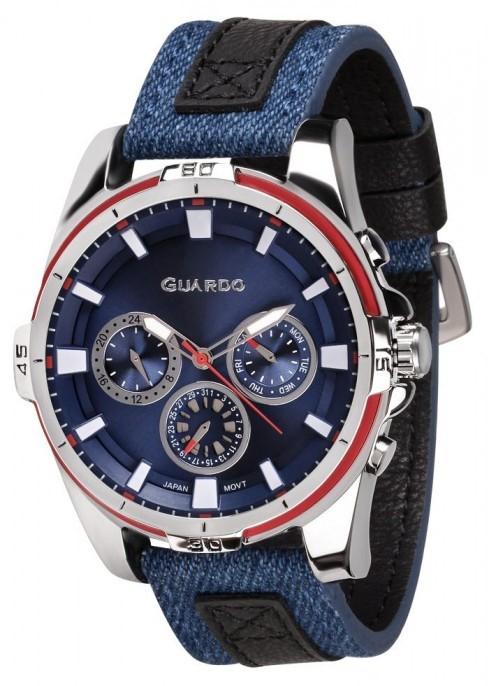 Guardo GR 11947-2 хр/син, синий ремень