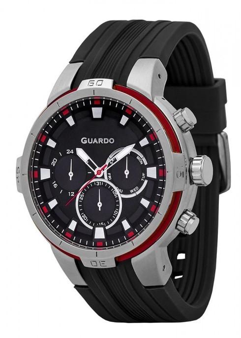 Guardo GR 11149-1 хр/черн, черный ремень