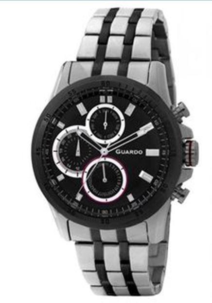 Guardo GR 11687(1)-1 черный/хром браслет