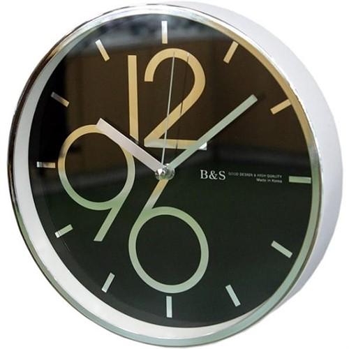 Часы настенные B&S SHC-251-CSP(BL)