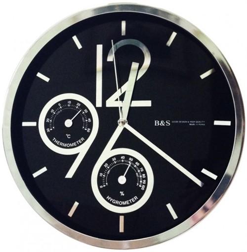 Часы настенные B&S SHC-301-CSP(BL)
