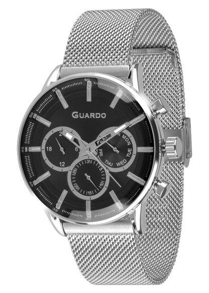 Guardo 12670-2 хр/черн, хром браслет - фото 12170