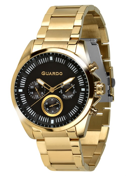 Guardo 11123-2 зол/чер, золотой браслет