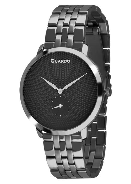 Guardo 12679-3 хр/черн, хром браслет