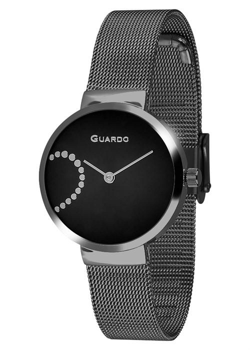 Guardo 12656-3 черн/черн, хром браслет