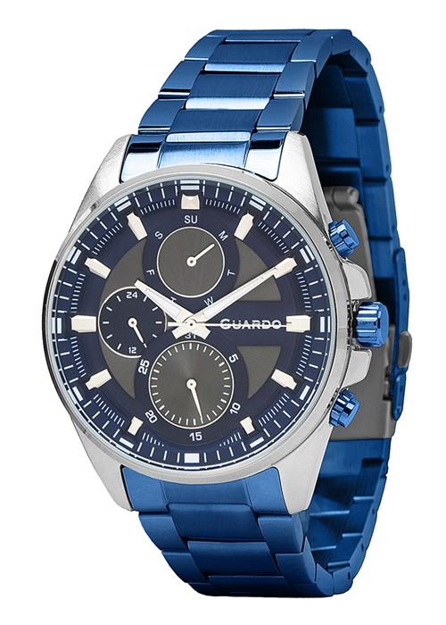 Guardo 11999(2)-3 хр/сер, синий браслет