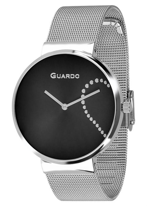 Guardo 12657-2 хр/черн, хром браслет - фото 12217