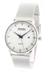 Guardo S2409-4 сталь, хром/белый, хром браслет