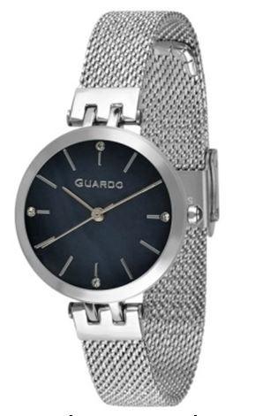Guardo 01947-1 хр/черн, хром браслет