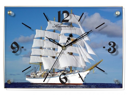Камелия 0119 корабль, стекло - фото 6305