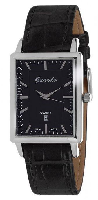 Guardo 6568 хром/черн, черный ремень - фото 6757