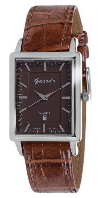 Guardo 6568-2 хром/корич, коричневый ремень - фото 6758