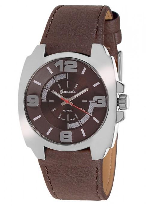 Guardo 9109-3 хром/корич, коричневый ремень - фото 8331