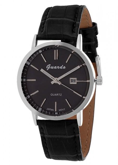 Guardo 1622-1 хром/черный, черный ремень - фото 8769