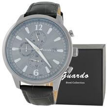 Guardo S1032-3 сталь, хром/серый, черный ремень
