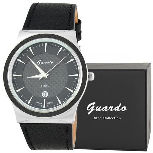Guardo S3186-2 сталь, хром/серый, черный ремень