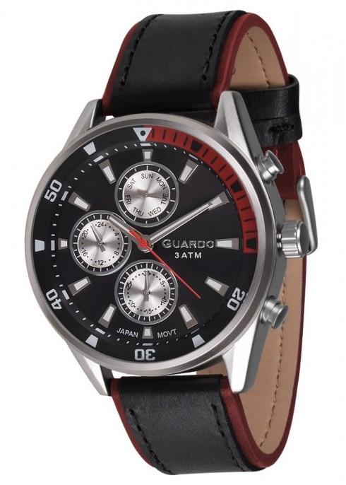 Guardo GR 17116-1 хр/черн, черный ремень