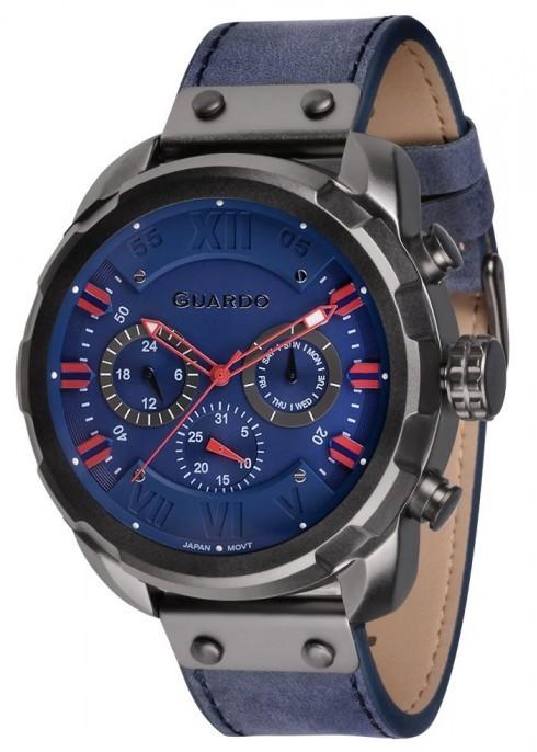 Guardo GR 11179-5 черн/син, синий ремень