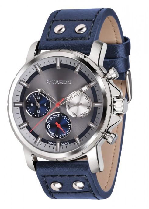 Guardo GR 11214-3 хр/сер, синий ремень