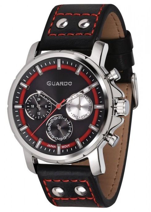 Guardo GR 11214-1 хр/черн, черный ремень