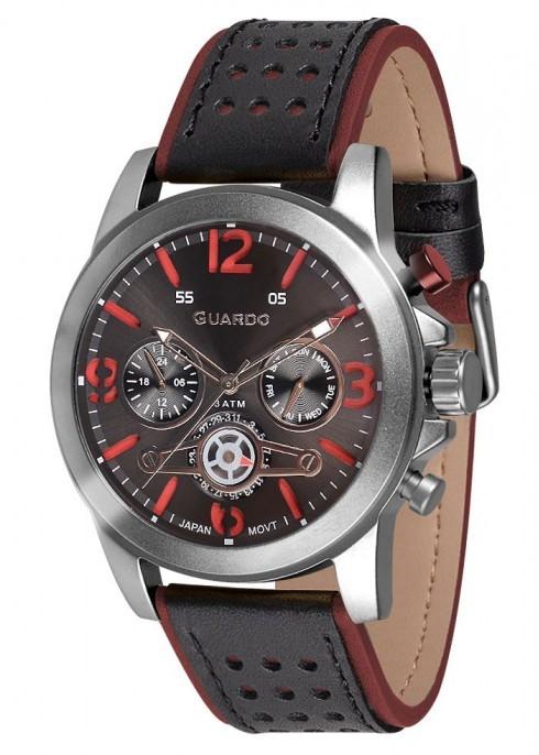 Guardo GR 11177-1 хр/черный, красно-черный ремень