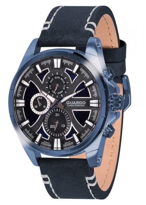 Guardo S1631-2 сталь, син/синий, синий ремень