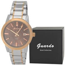 Guardo S1036-4 сталь, золото/хром/корич, браслет