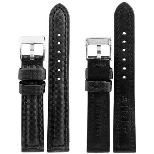 рем. ''KMV'' S-374 18 мм, черный с черн.строчкой