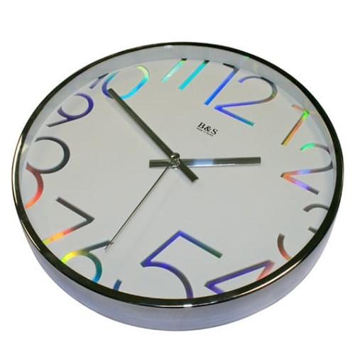 Часы настенные B&S SHC-300-CHA(W)