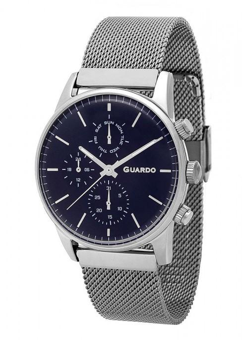 Guardo 12009(1)-5 хр/син, хром браслет