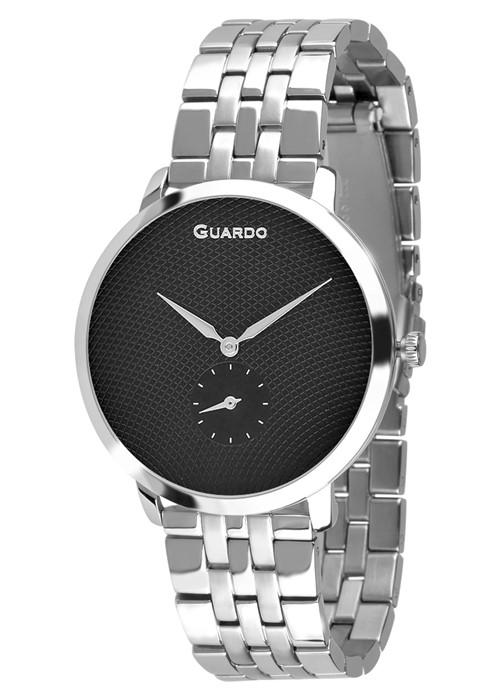 Guardo 12679-2 хр/черн, хром браслет