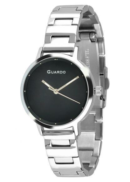 Guardo 12677-3 хр/черн, хром браслет