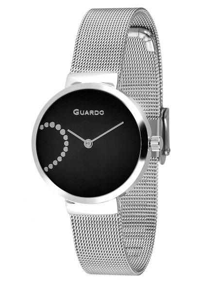 Guardo 12656-2 хр/черн, хром браслет