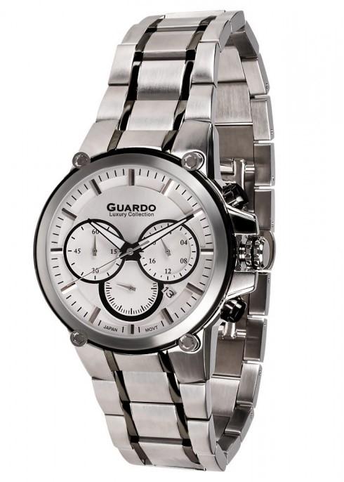 Guardo S1577-1 сталь, хром/серый, браслет